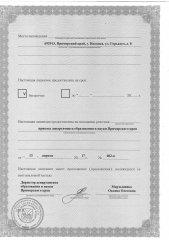 Лицензия на осуществление образовательной деятельности (лист 2)